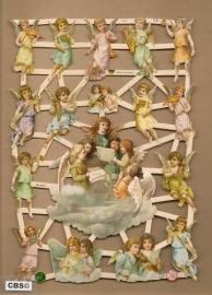 Engelen zingen op de wolken poezieplaatjes GL7370