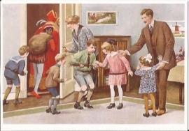 Sinterklaas vertrekt weer prentbriefkaart [D1119]