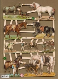 Paarden met ruiters en honden poezieplaatjes 7335