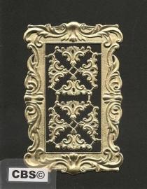 Schilderijlijstje (1) Sierhoeken (8) gouden poëzieplaatjes 1193
