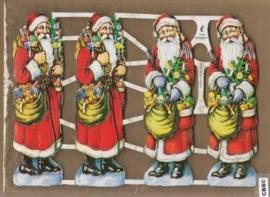 Vier kerstmannen Poezieplaatjes GL7040