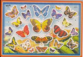 Poezieplaatjes vlinders stickers TBZ 662372