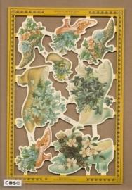 Damesschoenen gevuld met bloemen poezieplaatjes A 172