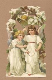 Engelen luiden bel in sneeuw poezieplaatjes 5128