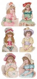 Snoezige dametjes poezieplaatjes Stickers Y151