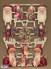 Kerstmannen en hoofden Poëzie Plaatjes 7285