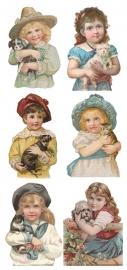 Knuffelen met huisdieren poezieplaatjes Stickers Y148