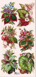 Boeketjes met Fuchsia poezieplaatjes Stickers C50