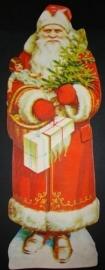 Kerstman 30 centimeter antiek poezieplaatje