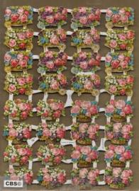 Bloemenmandjes en Kruitjes poezieplaatjes GL7133
