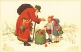 Cadeautjes voor kerst prentbriefkaart W036 [W036]