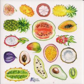Fruit poezieplaatjes Stickers K61