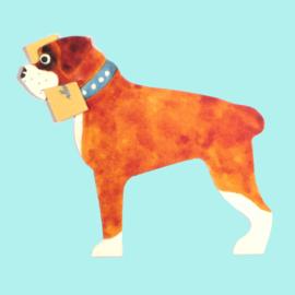 Mini geschenk kaart hond: Boxer [EG-2166]