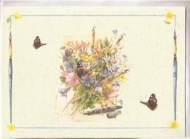 Kaart: Boeket met vlinder van Marjolein Bastin