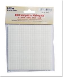 ** Foam blokjes stickertjes 5x5 mm - 2mm dik (400 stuks)