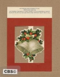 Poezieplaatje Kerstbellen met hulst 1335