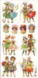 Bloemenkindertjes poezieplaatjes Stickers C08
