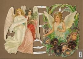 Engelen zwevend en met Violen poezieplaatjes GL7085