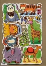 F3006: Wilde dieren poezieplaatjes met koperfolie
