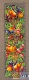 Nostalgische boeklegger Fruitmanden (poëzieplaatjes)