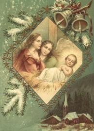 Op bezoek bij Kindje Jezus Reliefkaart EF 3024