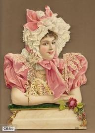 Roze juffrouw poezieplaat GL7075