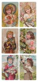 Seizoens kinderen poezieplaatjes Stickers Y160