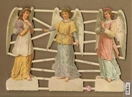 Staande devote engelen poezieplaatjes 7284