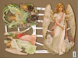 Engelen met violen Poezieplaatjes GL7099