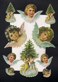 Snoezige kerstengelen Deense poezieplaatjes