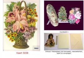 Sierkaart 5038: Mand met bloemen en Orchideeën Poezieplaatjes