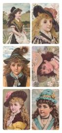 Kinder portretjes poezieplaatjes Stickers Y163