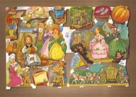 Assepoester poezieplaatjes Goud Glitters 1430