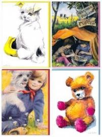 4 verschillende W.G. van de Hulst kaarten – set 5