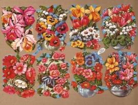 Kruger 98/17 Bloemenbakjes poezieplaatjes