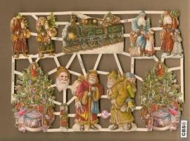 Kerstman, kerstboom, kerstlocomotief Poëzie plaatjes 7243