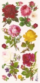 Allerlei kleuren Rozen poezieplaatjes Stickers C11