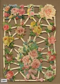 Feestelijke rozen boeketten poezieplaatjes 7268