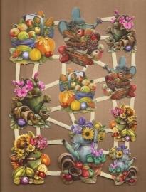 Bloemen en groentemanden poezieplaatjes LN60