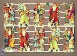 Verschillende Kerstmannen poëzieplaatjes 7313