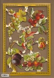 Fruit met aardbei en kers poezieplaatjes A 98