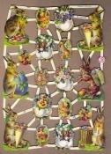 Paashaas met bloemgevulde eieren Poëzie plaatjes 7256