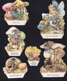 Bospaddenstoelen kijkdoosplaatjes Libelle 1983 Marjolein Bastin