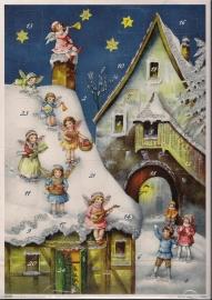 10396 Engeltjes met vrolijkheid en kerstpakjes Adventskalender