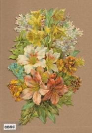 Narcissen en Lelies in boeket poezieplaatjes 5076