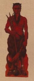 Demon `Krampus` oud poezieplaatje