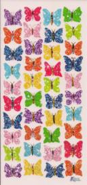 Felgekleurde kleine vlinder poezieplaatjes Stickers C82