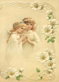 Engeltjes in aanbidding Reliefkaart EF 3008
