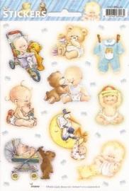 Baby jongen geboorte stickers SL03