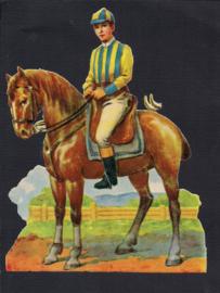 Jockey te paard  poezieplaatje